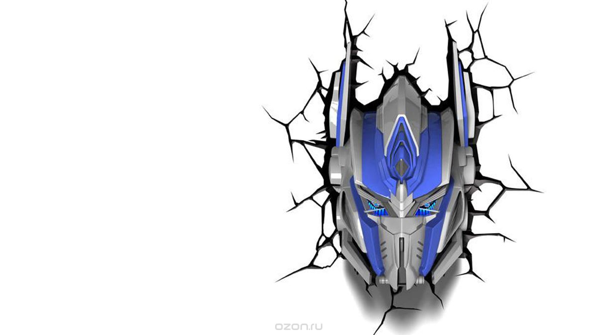 3DLightFX Настенный 3D cветильник TRNSFMR Optimus Prime Mask